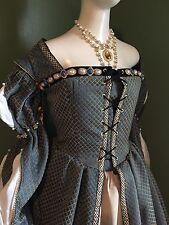 """Elizabethan Renaissance Tudor Costume Gown Dress Reenactment Garb 40"""" 32"""" SALE!"""
