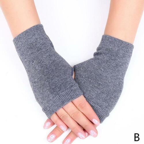 Cashmere Fingerless Arm Warm Winter Gloves Hand Long Warmer Mittens One Size