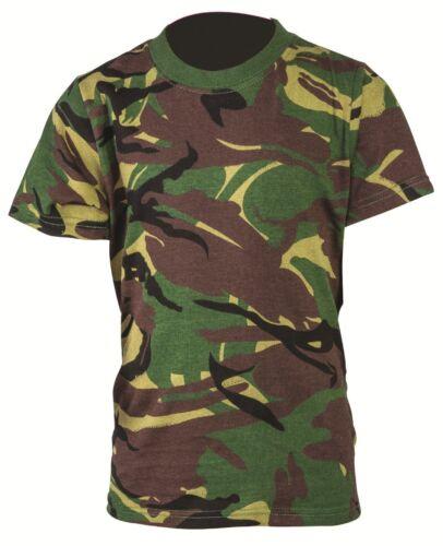 Kids Army T-Shirt DPM Camouflage British Camo Military Cadet Cotton Boys Girls