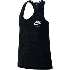 Details about Nike Sportswear Womens Gym Vintage Tank Top Black Sail 883735 010