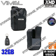 Police Camera Body Security Guard PTT Night Recorder Extreme XHD 1296P Pocket