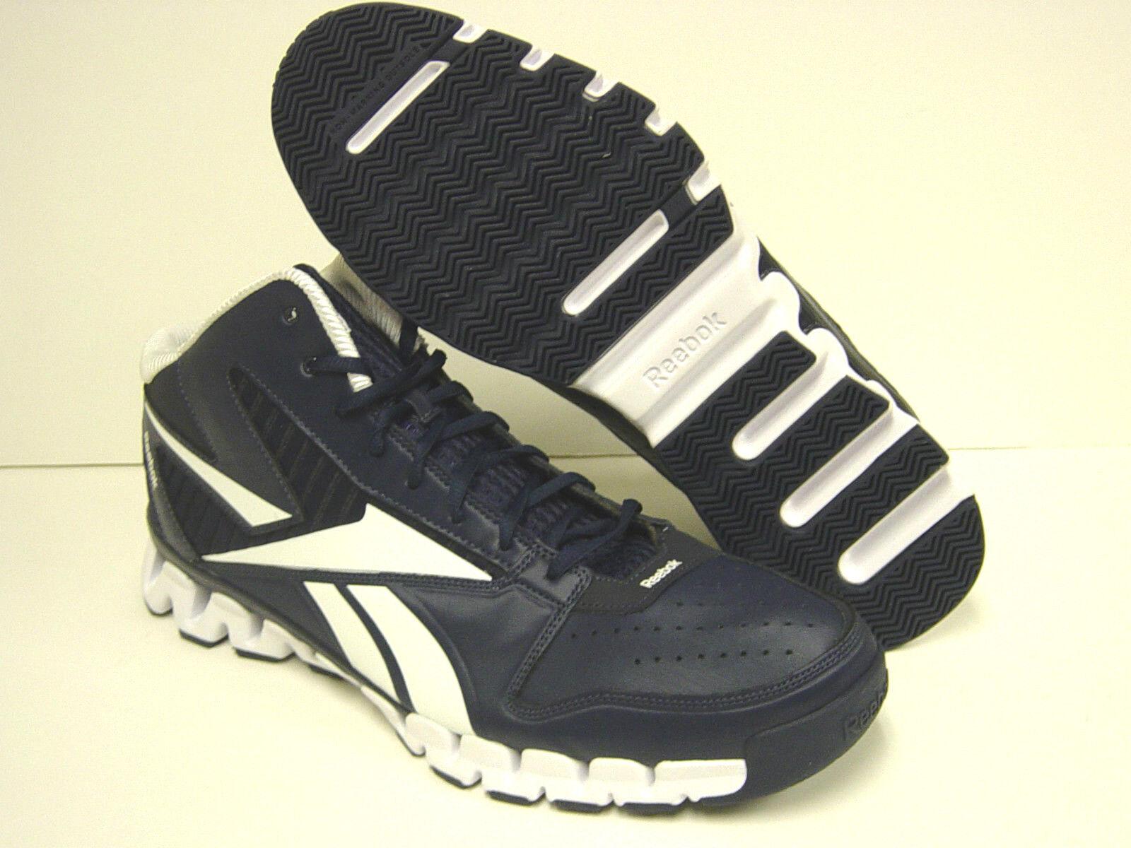 NEW Uomo REEBOK Zig Nano Pro Fury V45138 Navy Blue White SAMPLE  Shoes