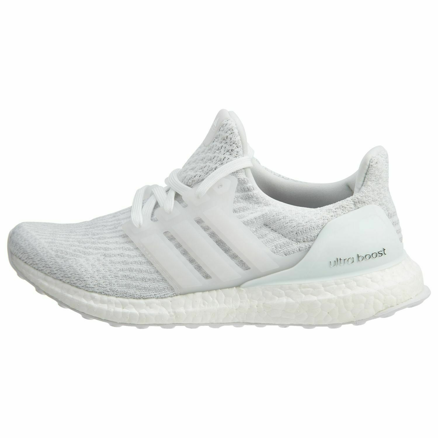 Adidas Ultra Boost Womens BA7686 Triple White Primeknit Running shoes Size 9.5