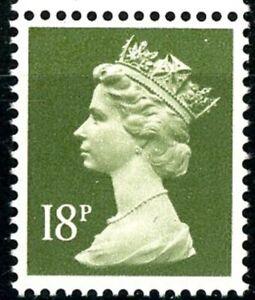 GB 1986 Machin 18P MNH SG X955 Deep Olive-Grey Booklet Stamp