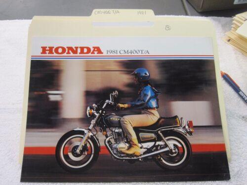 NOS Honda 1981 CM400 T//A  DEALER SALES BROCHURE