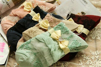 Lot 5 Pairs Womens Girls Cute Lolita Cotton Floral Ruffle Lace Retro Ankle Socks