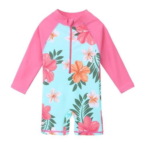 Children Swimwear Long Sleeve Baby Girl Swimsuit One Piece Toddler Infant UV50