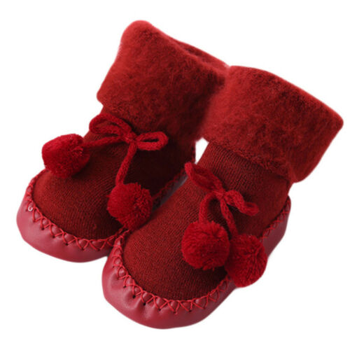 Baby Cartoon Thick Sock Slipper Shoe Floor Sock Newborn Anti-slip Shoes CS