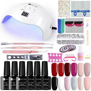 UR-SUGAR-Kit-40W-LED-UV-Nail-Lamp-10-Gel-Polish-Colours-Top-Base-Coat-Remover