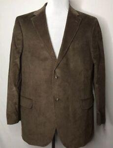 NEW-Mens-Lands-End-Lined-Brown-Corduroy-Sport-Coat-Blazer-Jacket-Size-44R
