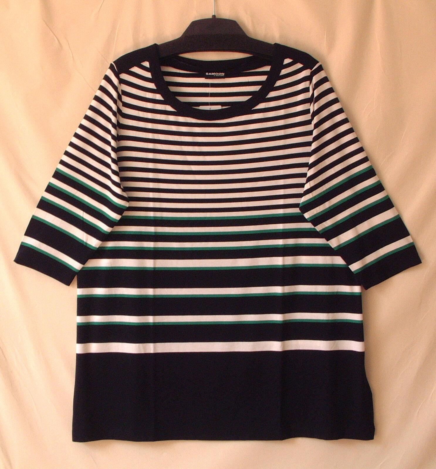 Samoon Shirt by Gerry Weber Weber Weber 3 4Arm Rundhals Longstyle Neu Stretch Damen Gr.50 | Komfort  | Praktisch Und Wirtschaftlich  | Moderne Technologie  96209e