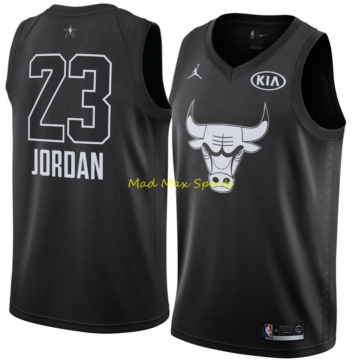 Michael Jordan Chicago Bulls Black 2018 KIA All Star Game Authentic Jersey  M 44 for sale online  3d89ccbbf