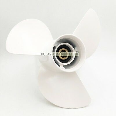 13 1//4x17 Stainless steel Outboard Propeller 6E5-45945-01-EL For Yamaha 50-130HP