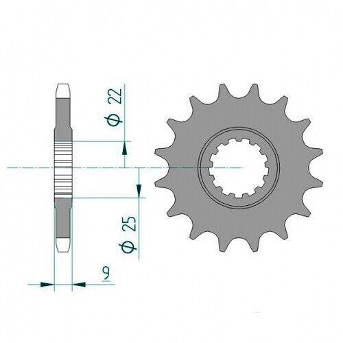 """Bj.2014  428er 14 Zähne Stahl Ritzel KTM SX85 19""""//16"""""""
