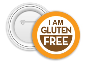 I am Gluten Free Safety Pin 58mm Badge Allergy Awareness Awareness Badge