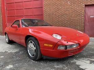 1989 Porsche 928 red 928 S4