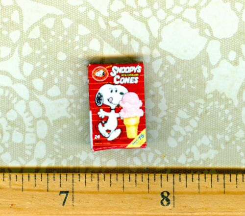 Dollhouse  MINIATURE Size Cartoon Ice Cream Cone Box # SN