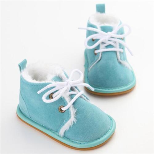 Newborn Baby Toddler Warm Boots Kid Boy Girl Winter Snow Fur Shoes SL