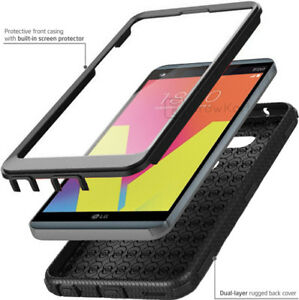 REFINED-ARMOR-Rugged-Shockproof-Slim-Phone-Case-Cover-BUILT-IN-SCREEN-PROTECTOR