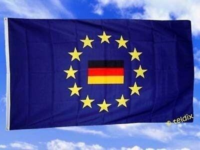 Fahne Flaggen DEUTSCHLAND IM EUROPAKREIS / TDShop24
