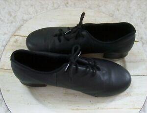 Bloch Tap Flex Leather Tap Shoes Black Lace Up Shockwave #3 Women's Size 6.5 M