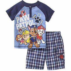 Nickelodeon Paw Patrol Short Sleeve Shirt Shorts Outfit Set Boy Size 5T