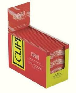1-5-10-25-50-100-Clipper-Red-Classic-Burning-Regular-Size-Smoking-Rolling-Paper