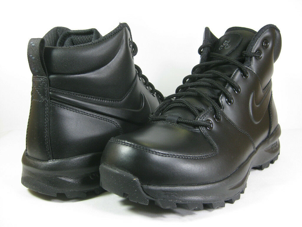 NIKE MENS MANOA LEATHER Black/Black -454350 003- ATHLETIC  BOOTS