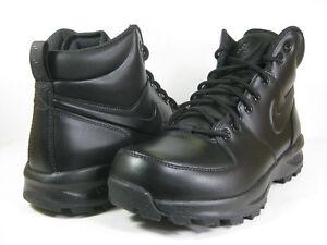 NIKE MENS MANOA LEATHER Black Black -454350 003- ATHLETIC BOOTS  9ab2ae8c726