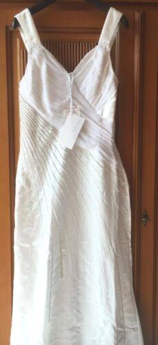 Nuevo vestido de bodas vestido de novia satén chifón lentejuelas 36 38 Laura Scott 771675