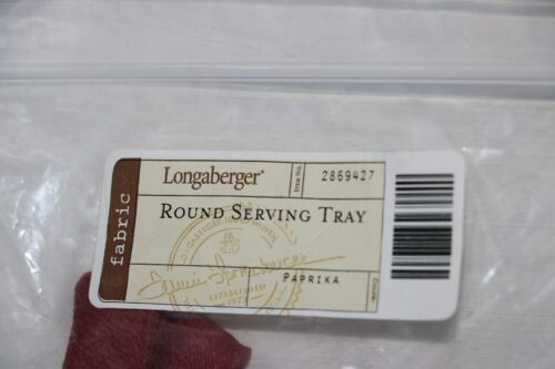 Longaberger Round Serving Basket Over the Edge Liner in Paprika #2869427 NEW