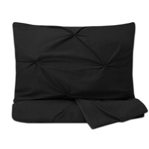 Duvet Cover /& Pillow Sham Set Luxury 3 Piece Pinch Pleat Pintuck Polyester