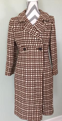 Vintage Joseph Horne Womens Brown White Checker Pl