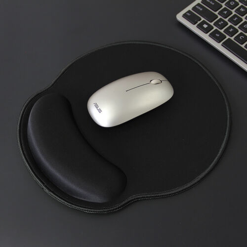 Gaming MousePad w Wrist Rest Support /& Stitched Edges Black with Black Edges