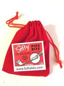 "MADE IN U.S.A FREE SOFTY BAG 30 pcs SMOKING PIPE BITES /""SOFTY/"" THE ORIGINAL"