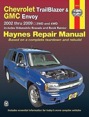 TrailBlazer Envoy Bravada Haynes Repair Manual 02-09 Owners Book Shop Service