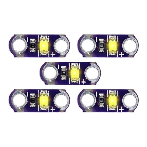 5Pcs//lot LilyPad SMD Led KIT DIY Module Light Yellow 3V-5V