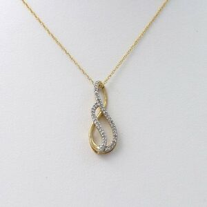 new zales 1 10ct swirl infinity loop pendant