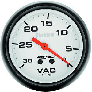Autometer 5884 Gauge, Phantom, Vacuum, 2 5/8 in., 30 in. Hg, Mechanical, Analog,