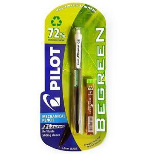 Pilot-Begreen-Rexgrip-Mechanical-Pencil-0-5mm-Black-Barrel-Tube-of-Leads