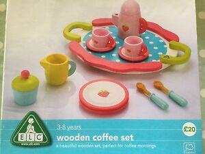 Elc Pretend Kitchen Pretend Play Wooden Coffee Set Brand New Milk