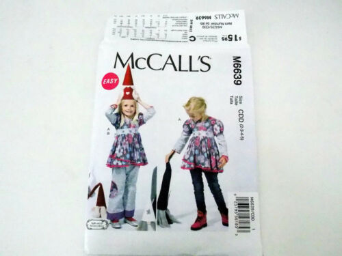 McCALL/'S SEWING PATTERN TOP /& PANTS GIRLS/' SIZE 2-3-4-5 or 6-7-8 # M6639