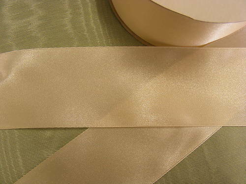 Ribbon Satin 50mm Cream x 30 mts