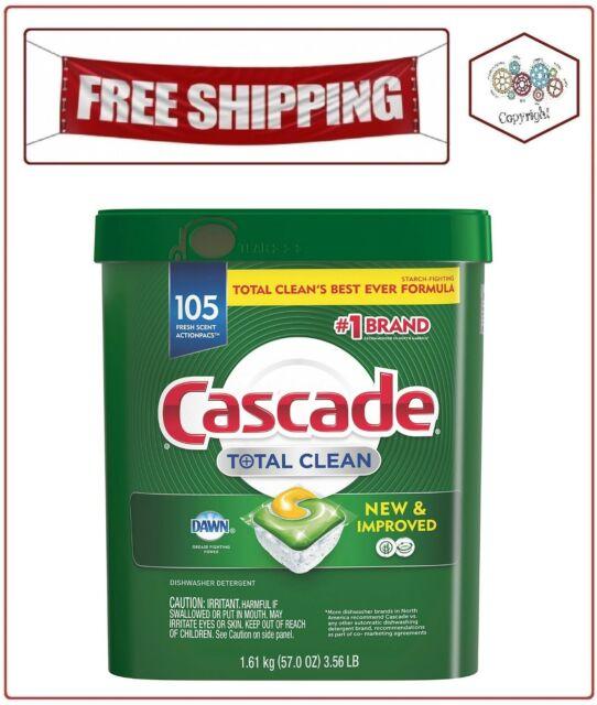 Cascade Total Clean ActionPacs, Dishwasher Detergent, Fresh Scent (105 ct.)