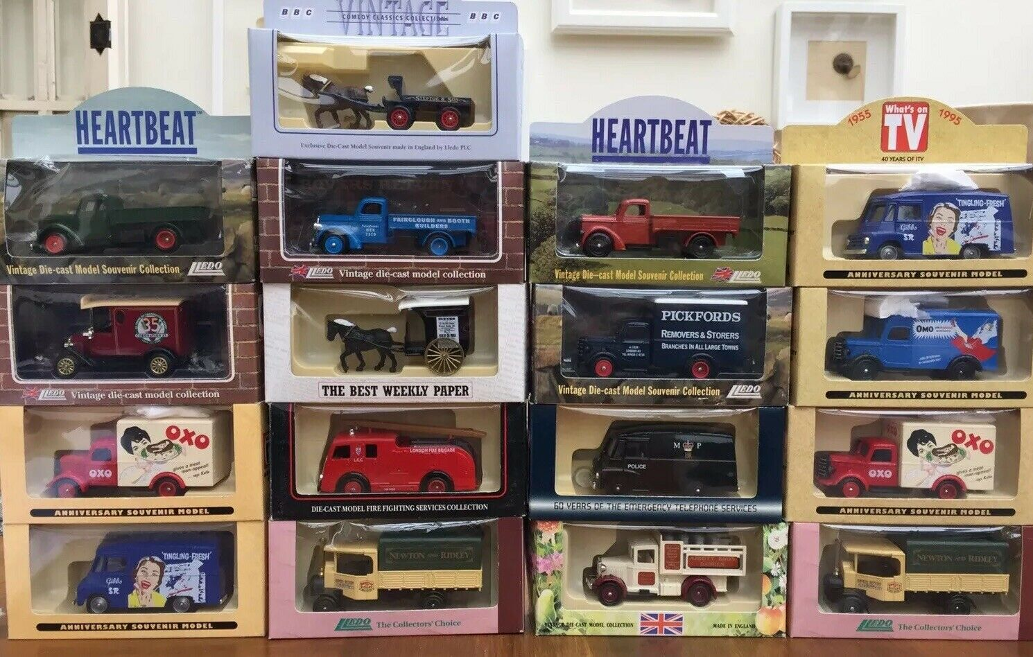 17 x LLEDO TV Related diecast models Steptoe TV Times CGoldnation St. Heartbeat