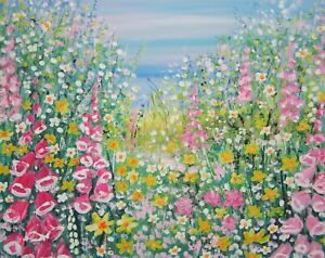 Reverie-in-the-Wild-Flower-Meadow-a-large-painting-by-Jenny-Hare