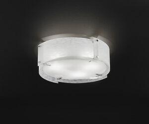 Plafoniere Vetro Satinato : Plafoniera moderna cromo lucido con vetro satinato luci ebay