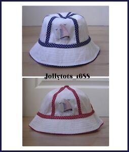 Toddler Girls White Sun Hat Summer Beach Hat With Spot Trim Bucket ... f492a7b792d