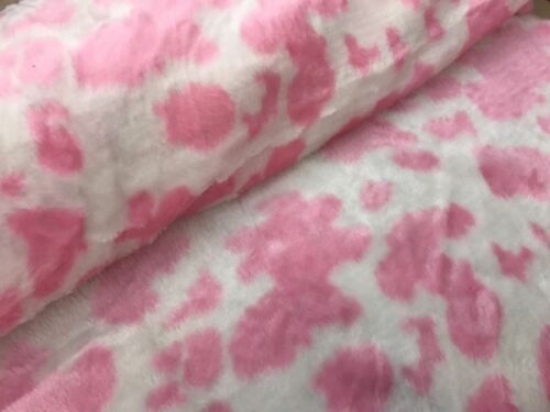 Fun Faux Fur Fabric Animal Designs Soft Quality Furry 150 cms Wide