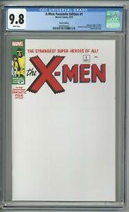 X-Men-Facsimile-Edition-1-CGC-9-8-Sketch-Edition-Partial-Blank-Reprint-CE-amp-UCB